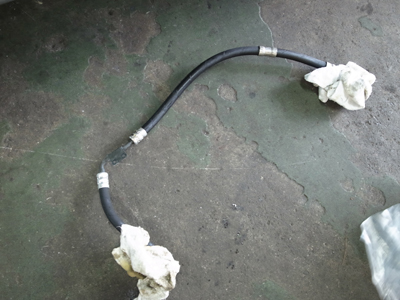 W211パワステオイル漏れ