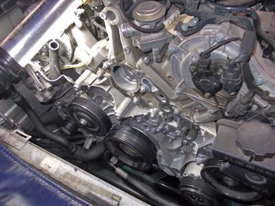 ベンツ171・エンジンオイル漏れ