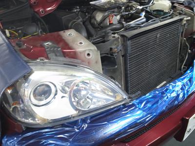 W163エアコン修理