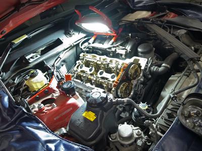 BMW-E87オイル漏れ整備