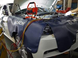 E90エアコン修理
