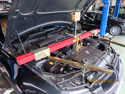 BMW E91 オイル漏れ